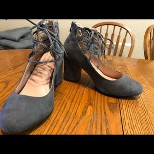 Torrid Ankle Wrap/Tie Mary Jane Heels (Wide Width)